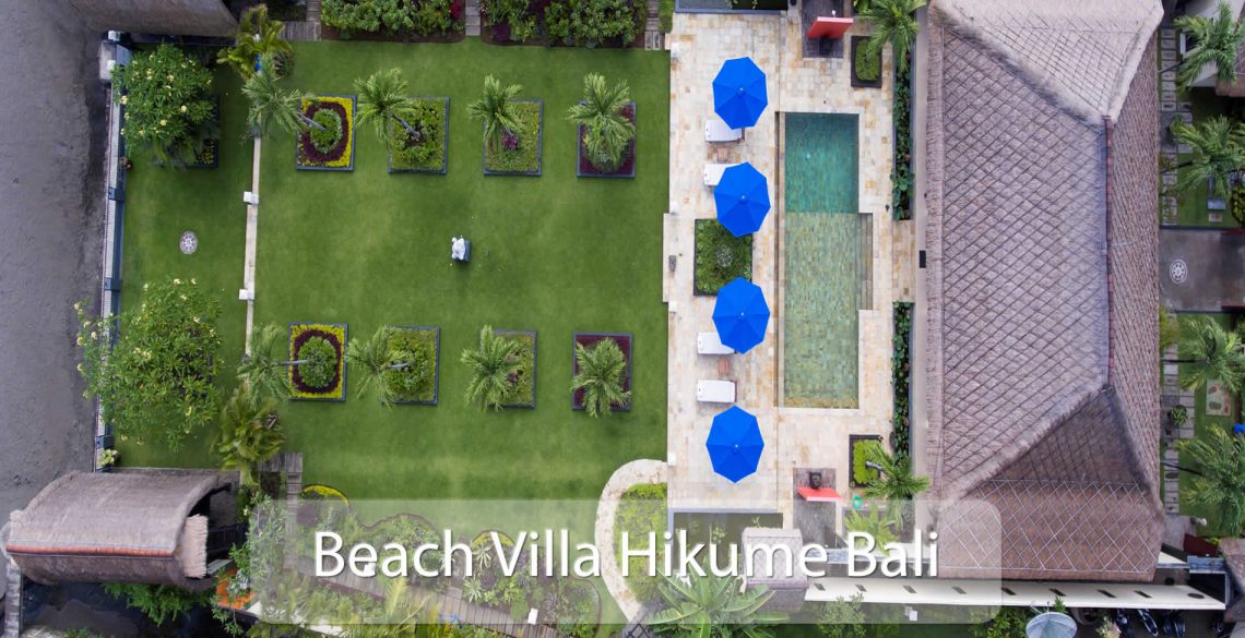 Beach Villa Hikume Birds View