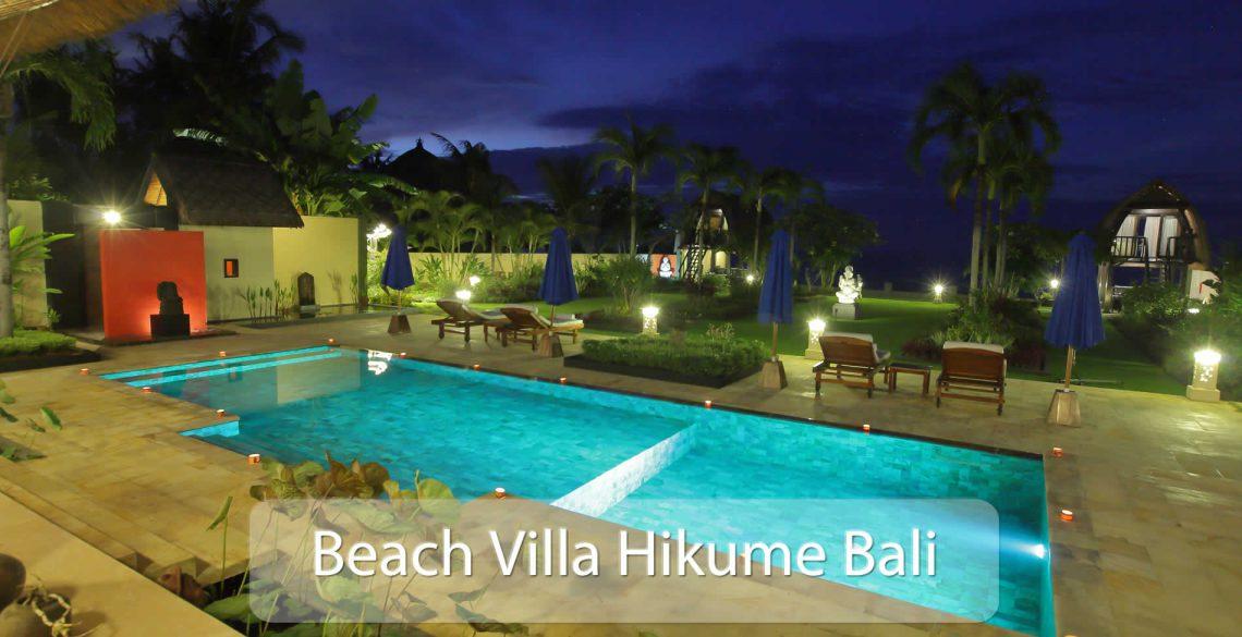 Beach Villa Hikume Pool Evening